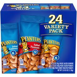Planters Variety Packs, 1.7 Oz, Pack Of 24