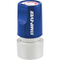 Stamp-Ever Pre-inked Initial Here Round Stamp - Message Stamp - Initial Here - 0.75in. Impression Diameter - 50000 Impression(s) - Red - 1 Each