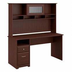 Bush Furniture Cabot Computer Desk with Hutch and Drawers, 60in.W, Harvest Cherry, Standard Delivery