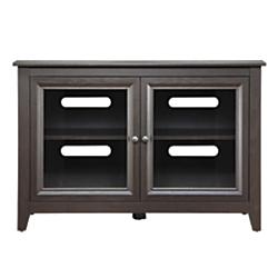 Whalen(R) Furniture Clinton Highboy TV Console For Flat-Panel TVs Up To 50in., 30in.H x 44in.W x 21in.D, Mocha
