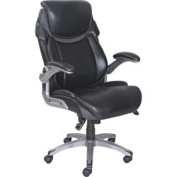 Lorell(R) Wellness by Design(R) Executive Chair, Bonded Leather, Black