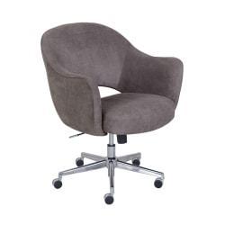 Serta Valletta Home Office Chair, Dovetail Gray/Chrome