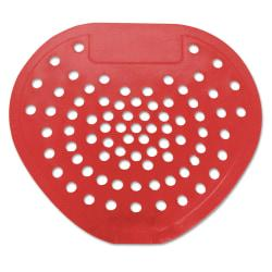 HOSPECO(R) Health Gards(R) Vinyl Urinal Screens, 6 7/8in. x 7 3/4in., Cherry Scent, Red, Pack Of 12 Screens