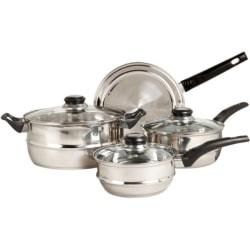 Sunbeam Ridgeline 7 Piece Stainless Steel Cookware Set