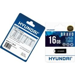 Hyundai Bravo Keychain USB 2.0 Flash Drive 16GB Black