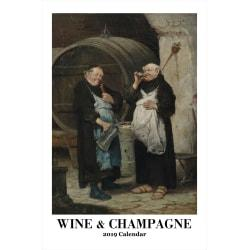 Retrospect Monthly Wall Calendar, Wine Champagne, 19-1/4in. x 12-1/2in., Multicolor, January to December 2019