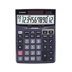 Casio(R) Check Correct Desk Calculator, 1.37in. x 5.51in. x 7.51in., Black, DJ120D