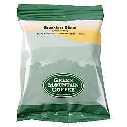 Green Mountain Coffee(R) Breakfast Blend Coffee, Portion Packs, Carton Of 100