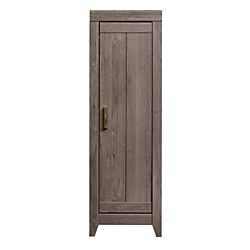 Sauder Adept Engineered Wood Narrow Storage Cabinet, 3 Adjustable Shelves, Fossil Oak