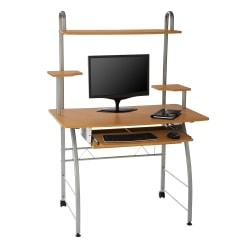 Brenton Studio(R) Zillope II Computer Desk, 56 1/4in.H x 39 3/8in.W x 23 3/4in.D, Honey Maple