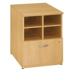 Bush Business Furniture Components Storage Cabinet, 24in.W, Light Oak/Light Oak, Standard Delivery