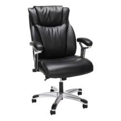 OFM Essentials Collection Bonded Leather High-Back Chair, Black