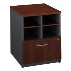Bush Business Furniture Components Storage Cabinet, 24in.W, Hansen Cherry/Graphite Gray, Standard Delivery