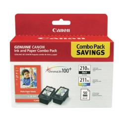 Canon PG-210XL / CL-211XL Ink Photo Paper Combo Pack, (2973B004)