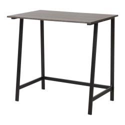 Homestar North America Pedestal Desk, FSC(R) Certified, Black Oak