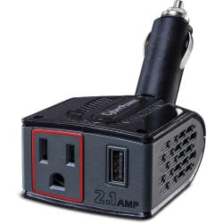 CyberPower CPS150BURC1 Mobile Power Inverter 150W with 2.1A USB Charger and Swivel Head