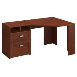 Bush Furniture Wheaton Reversible Corner Desk, Hansen Cherry, Standard Delivery