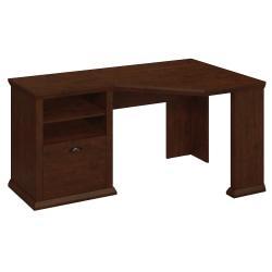 Bush Furniture Yorktown Corner Desk, Antique Cherry, Standard Delivery