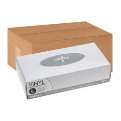 Medline Designer Boxed Powder-Free Vinyl Gloves, Large, Clear, 100 Gloves Per Box, Case Of 10 Boxes