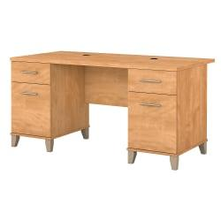 Bush Furniture Somerset Office Desk, 60in.W, Maple Cross, Standard Delivery