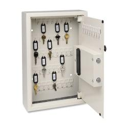 Steelmaster Electronic Key Safe - Electronic Lock - Scratch Resistant - Overall Size 17.4in. x 5.5in. x 4in. - Sand - Steel