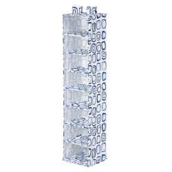 Honey-Can-Do 8-Shelf Hanging Vertical Closet Organizer, 54in.H x 12in.W x 12in.D, Blue/White