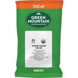 Green Mountain Coffee Roasters T5493 Organic House Blend Decaf - House Blend - Light - 50 / Carton