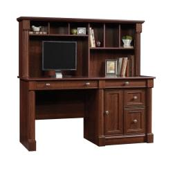 Sauder(R) Palladia Computer Desk With Hutch, Select Cherry