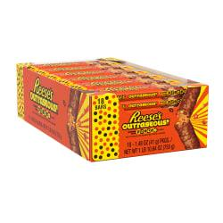 Reese's Outrageous! Peanut Butter Chocolate Candy Bar, 1.48 Oz, Pack Of 18 Bars