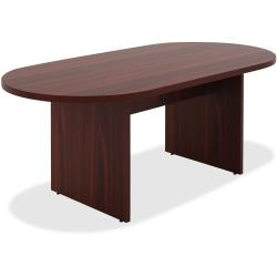 Lorell(R) Chateau Series Oval Conference Table, 6ft.W, Mahogany
