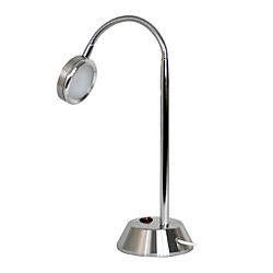 Simple Designs High-Power LED Desk Lamp, 19 1/8in.H, Chrome Shade/Chrome Base