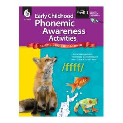Shell Education Early Childhood Activities Set, Phonemic Awareness, Grades Pre K - K