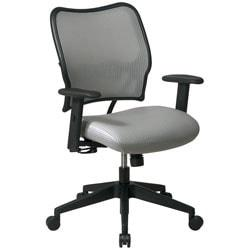 Office Star(TM) Deluxe Task Chair With VeraFlex(TM) Seat And Back, 40in.H x 27in.W x 26 1/2in.D, Black Frame, Shadow Fabric