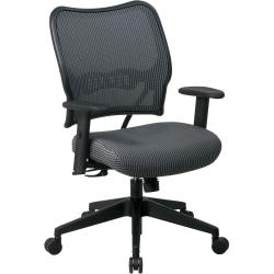 Office Star(TM) Deluxe Task Chair With VeraFlex(TM) Seat And Back, 40in.H x 27in.W x 26 1/2in.D, Black Frame, Charcoal Fabric