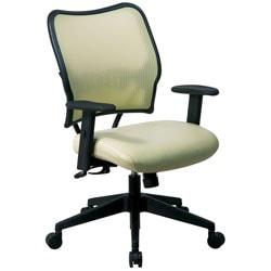 Office Star(TM) Deluxe Task Chair With VeraFlex(TM) Seat And Back, 40in.H x 27in.W x 26 1/2in.D, Black Frame, Kiwi Fabric