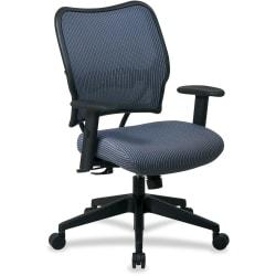 Office Star(TM) Deluxe Task Chair With VeraFlex(TM) Seat And Back, 40in.H x 27in.W x 26 1/2in.D, Black Frame, Blue Mist Fabric