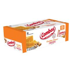 Combos(R) Snack, Cheddar Cheese Pretzel, 1.8 Oz, Box Of 12