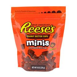 Reese's Peanut Butter Cup Minis, 8 Oz, Pack Of 4 Bags