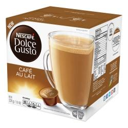 Nescafe Dolce Gusto Cafe Au Lait Coffee Capsules Capsule - Compatible with Majesto Automatic Coffee Machine - Rich Aroma, Caramel, Toasted Cereal, Cafe Au Lait