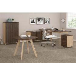 Ameriwood(TM) Home AX1 5-Piece Executive Office Set, Walnut