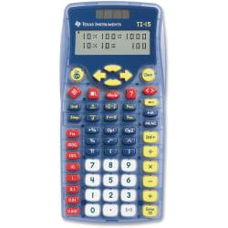 Texas Instruments TI-15 Explorer Elementary Calculator - Auto Power Off, Dual Power, Plastic Key, Impact Resistant Cover - 2 Line(s) - 11 Digits - Battery/Solar