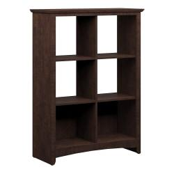 Bush Furniture Buena Vista 6 Cube Bookcase, Madison Cherry, Standard Delivery