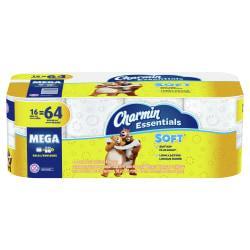 Charmin(R) Essentials Soft(TM) Bathroom Tissue, 2-Ply, White, 200 Sheets Per Roll, Pack Of 24 Rolls
