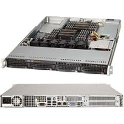Supermicro SuperServer 6017R-NTF Barebone System - 1U Rack-mountable - Intel C602 Chipset - Socket R LGA-2011 - 2 x Processor Support - Black