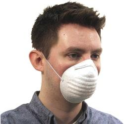 ProGuard Disposable Nontoxic Dust Mask - Pollen, Dust, Grass Protection - Polypropylene Mask - White - 600 / Carton