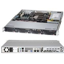 Supermicro SuperServer 6017B-MTF Barebone System - 1U Rack-mountable - Intel C602 Chipset - Socket B2 LGA-1356 - 2 x Processor Support - Black