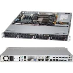 Supermicro SuperServer 6017B-MTLF Barebone System - 1U Rack-mountable - Intel C602 Chipset - Socket B2 LGA-1356 - 2 x Processor Support - Black