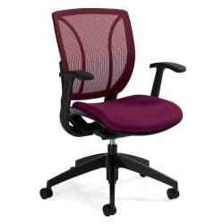 Global(R) Roma Fabric Posture Task Chair With Mesh Back, 38in.H x 25 1/2in.W x 23 1/2in.D, Fall Burgundy