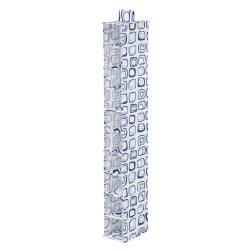 Honey-Can-Do 10-Shelf Hanging Vertical Closet Organizer, 54in.H x 12in.W x 12in.D, Blue/White