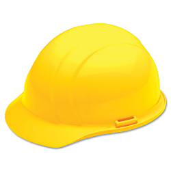 SKILCRAFT(R) Easy Quick-Slide Cap Safety Helmet, Yellow (AbilityOne 8415-00-935-3140)